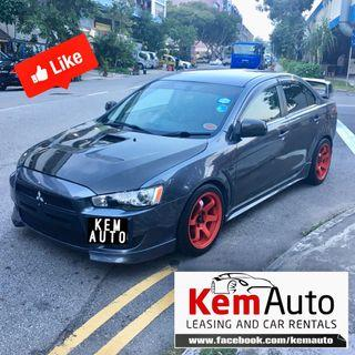 Sporty Mitsubishi Lancer EX 2.0L manual CF bonnet Boot coilover Volks Racing Rims