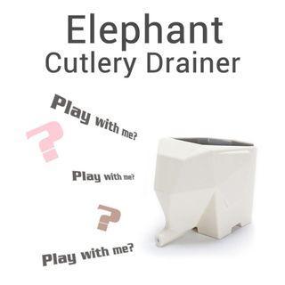 Elephant design Cutlery Drainer Kitchen Bathroom  Toothbrush Holder Creative Gift Idea