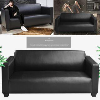 Black Living room sofa/Sofa PU sofa/ Type N