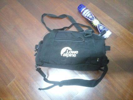 Lowe Alpine gymbag camping hiking convertable backpack