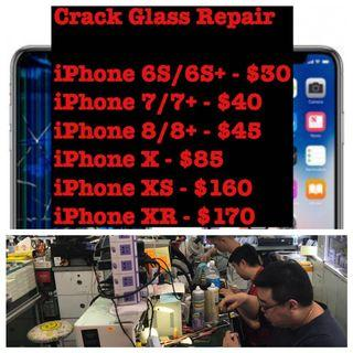 iPhone Crack Glass Repair, Xiaomi Samsung Phone Mix Repair