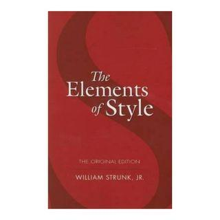 The Elements of Style book by William Strunk Jr