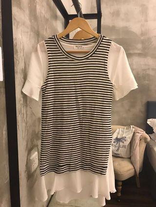 2 pieces stripes dress