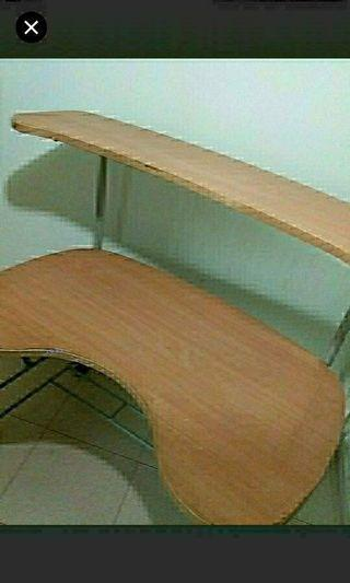 Furniture  Shelving unit table  With wheels  Lots of