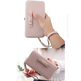 Cute Bow Knot Phone Wallet Case
