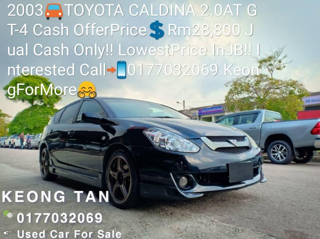 2003🚘TOYOTA CALDINA 2.0AT GT-4 Cash OfferPrice💲Rm28,800 Jual Cash Only‼LowestPrice InJB‼ Interested Call📲0177032069 KeongForMore🤗