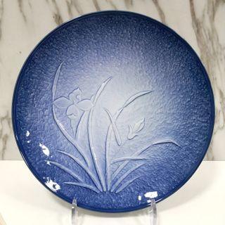 Beautiful Japan Arita Blue and white flower Big plate