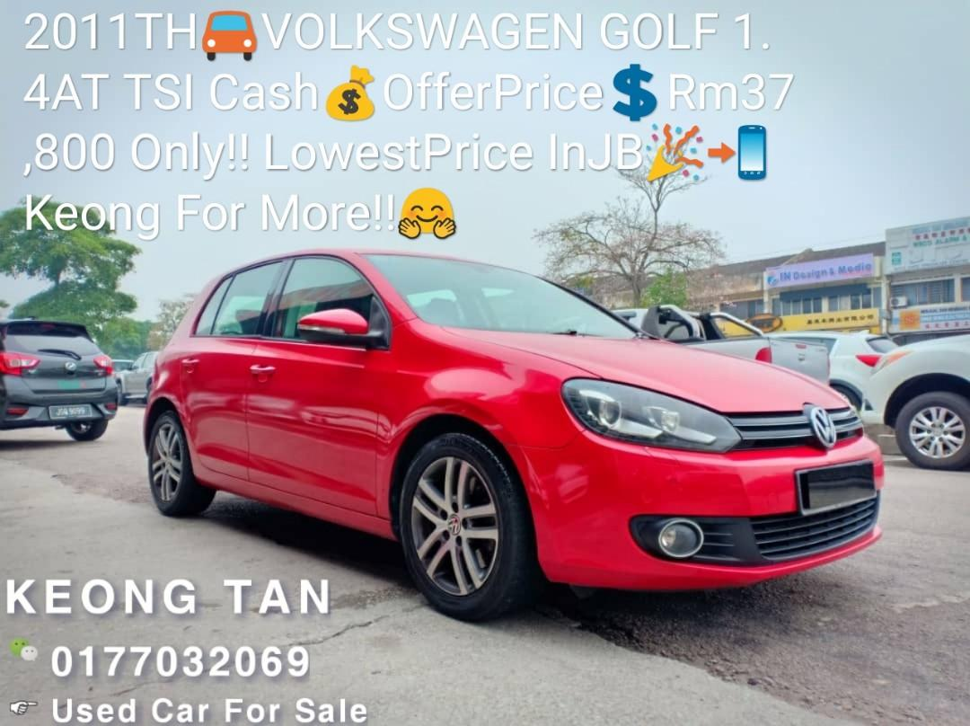 2011TH🚘VOLKSWAGEN GOLF 1.4AT TSI Cash💰OfferPrice💲Rm37,800 Only‼ LowestPrice InJB🎉📲 Keong‼🤗