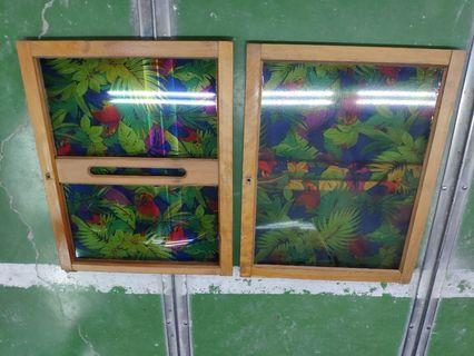 懷舊復古 圖案古窗戶 約30年一組兩片