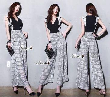 2 pieces embroidery arty printed set