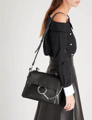 正Chloe faye day 黑色 全新 斜背包 肩背包(手提包small黑色mini可放長夾另有medium中後背包