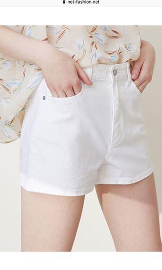 Net白色牛仔短褲#五折清衣櫃