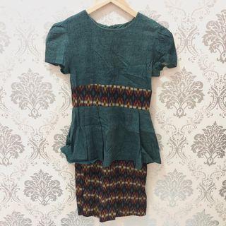 BATIK DRESS (GREEN)  #joinoktober