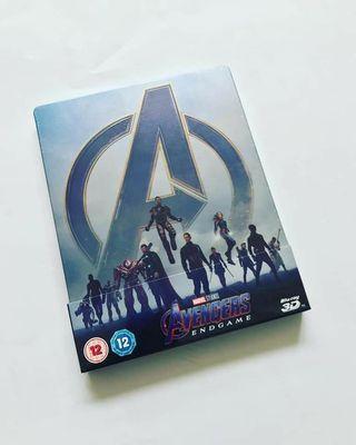 Avengers Endgame 3D 2D Blu Ray Steelbook