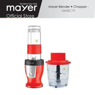 Mayer MMBC19 2 in 1 Blender & Chopper, Red