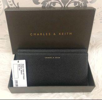 CHARLES & KEITH LONG WALLET (BLACK) #joinoktober