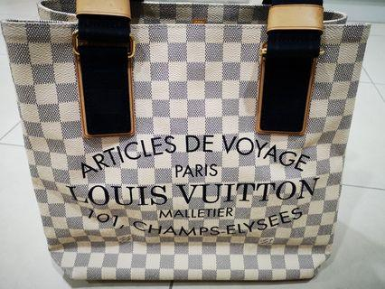 Louis Vuitton Limited Edition Damier Azur Beach Cabas PM