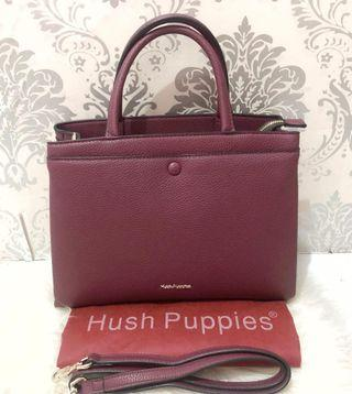 HUSH PUPPIES JANNIE SATCHEL BAG (PLUM) #joinoktober