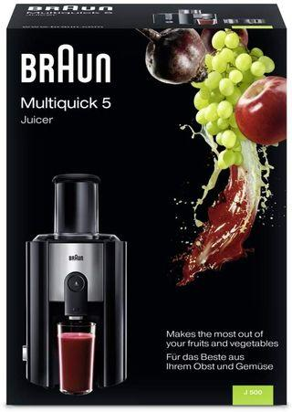 Braun J 500 50 Hz Multiquick 5 Juicer Anti Drip System, 220 to 240-volt