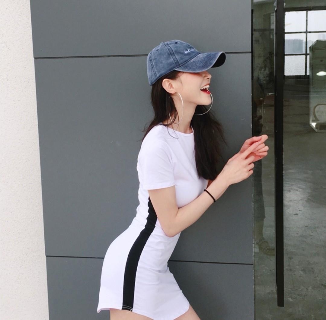 [2 COL] Uzzlang slim dress