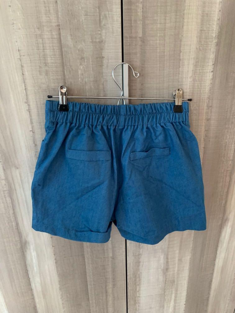 正韓中藍色短褲