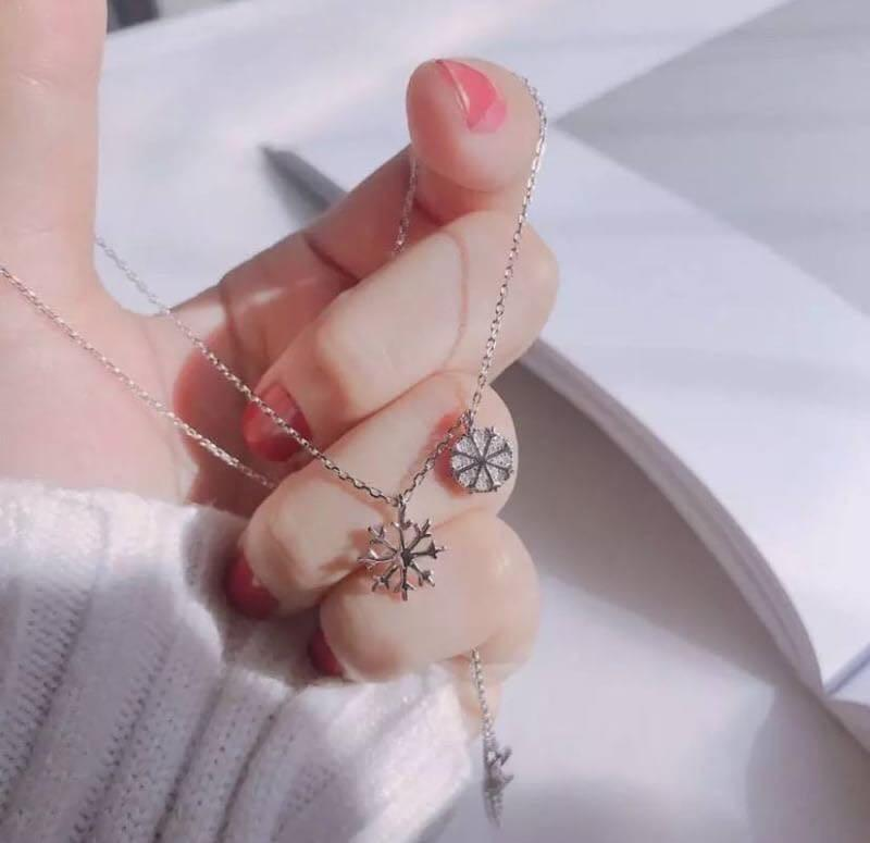 香港正生銀飾✈️ 雪花純銀項鍊