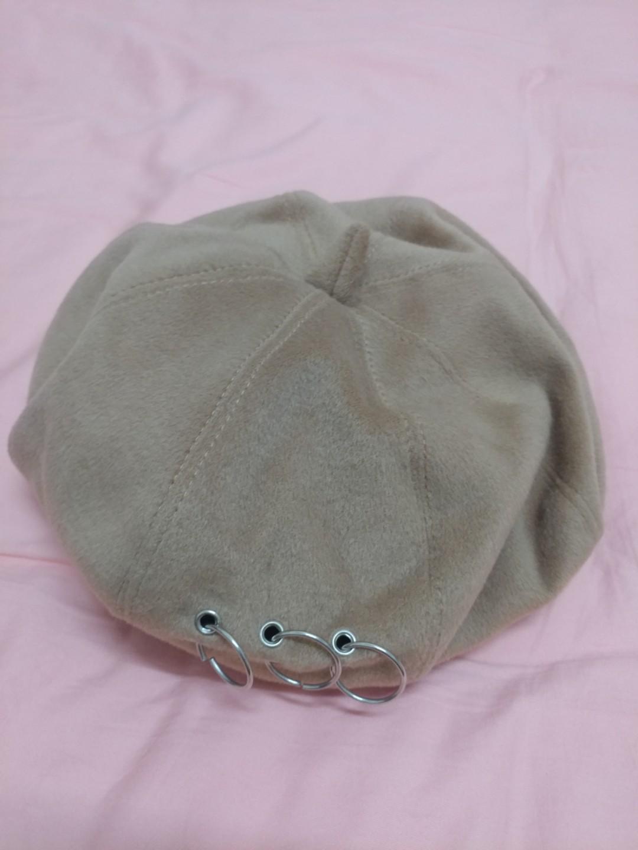 造型貝雷帽 秋冬適合 淺棕色