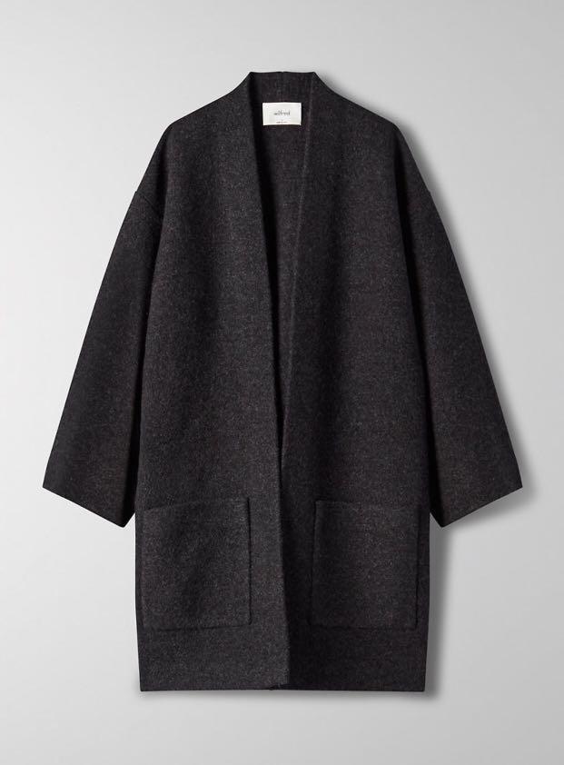 Aritzia Wilfred Brullon Sweater - Heather Black - Size S