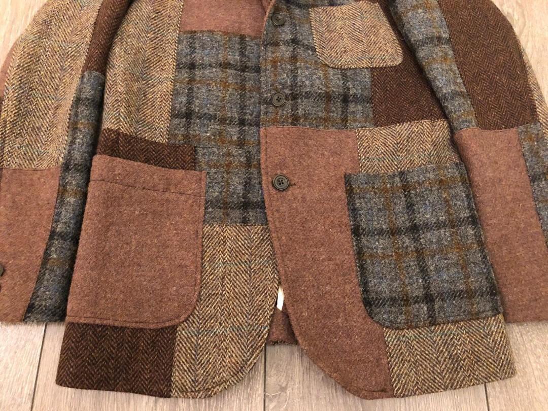 Beams Horris Tweed patchwork jacket