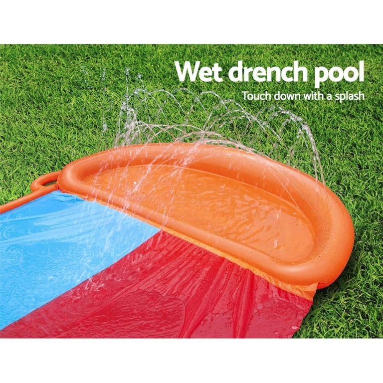 Bestway Inflatable Water Slip And Slide Double 5.49m Kids Splash Toy Outdoor