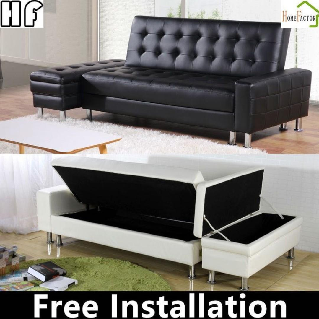 Pu Leather Sofa Bed Type G