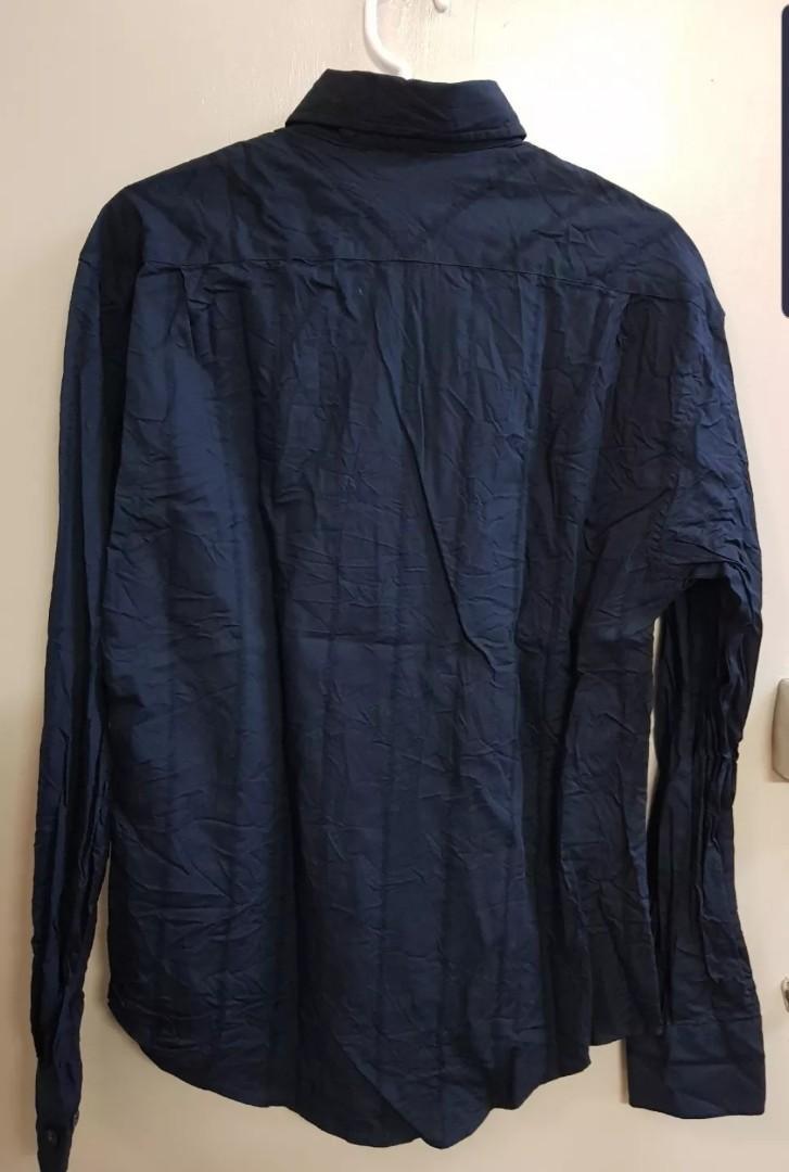 Brand new ben sherman long sleeve navy stripe shirt size S