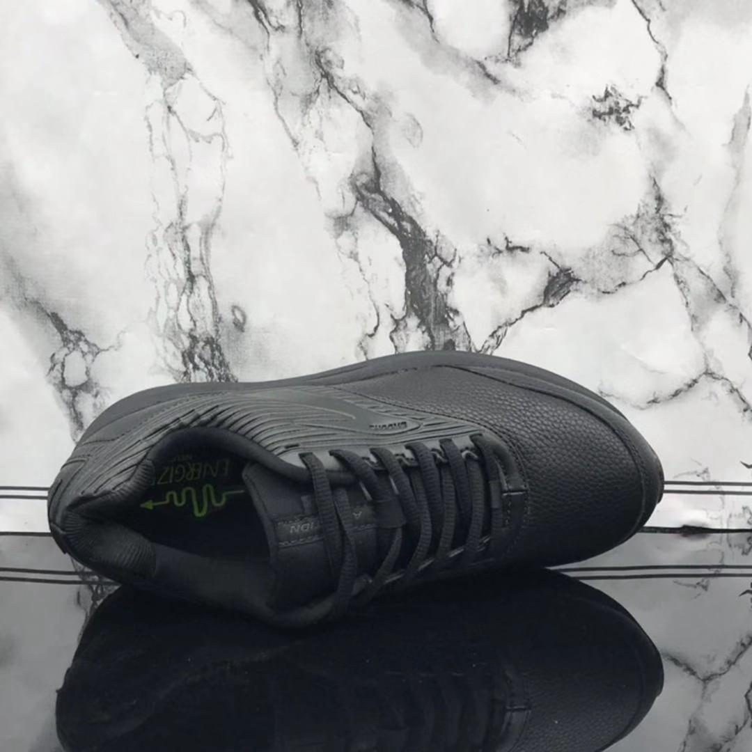 新款BROOKS/布鲁克斯 牛皮面健步鞋 ADDlC TlON 防滑耐磨防水慢跑鞋