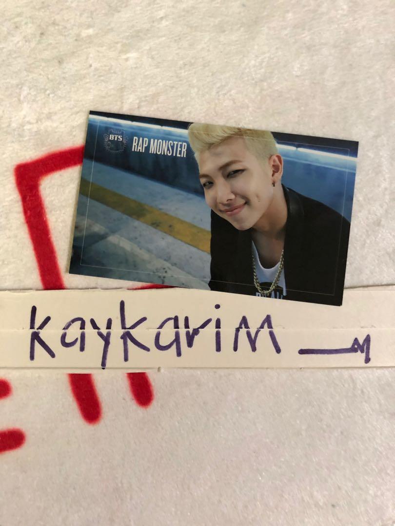 BTS RM Dark & Wild Official Photocard