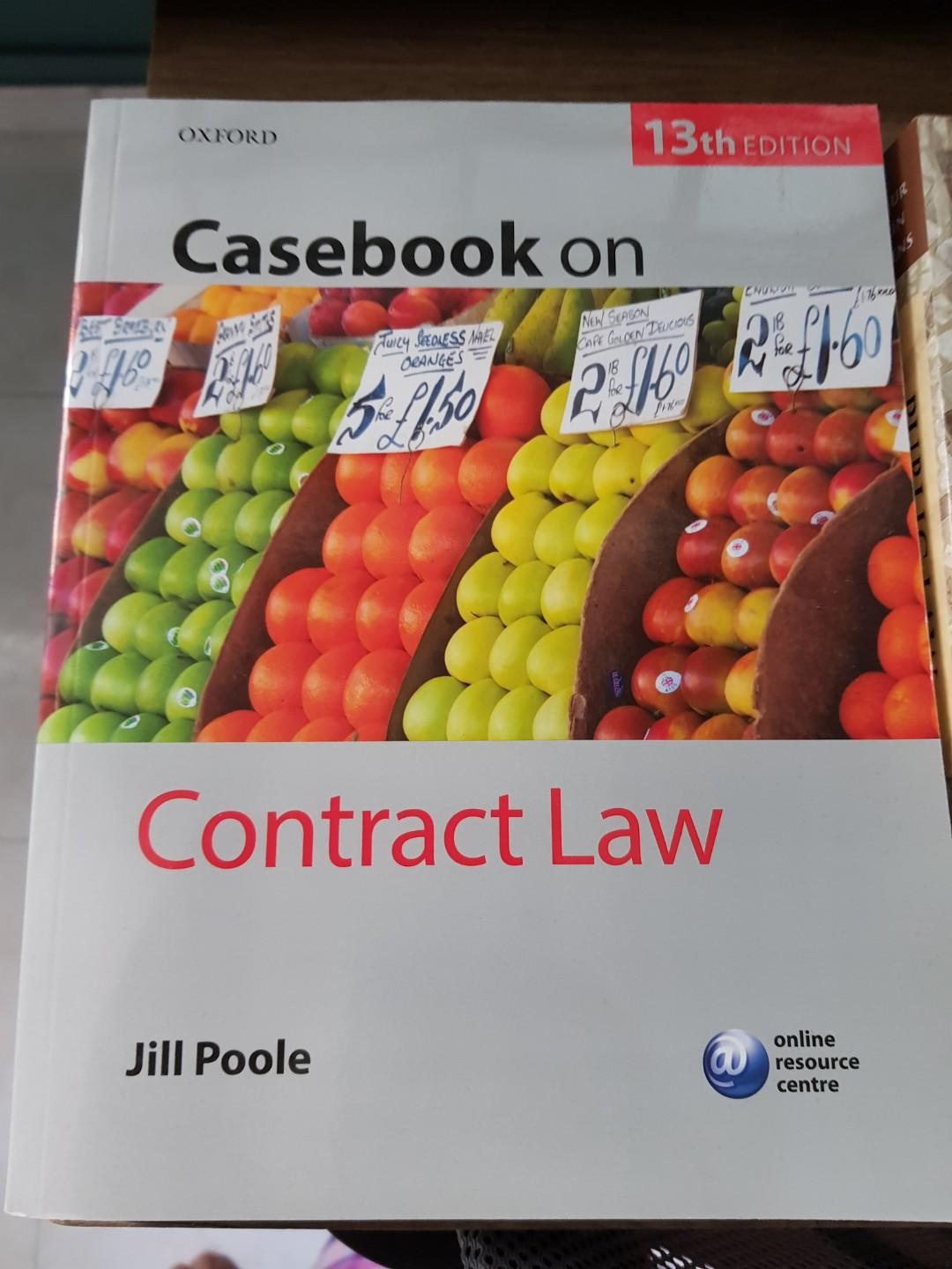 Casebook on Contract Law by Jill Poole 13th Edition