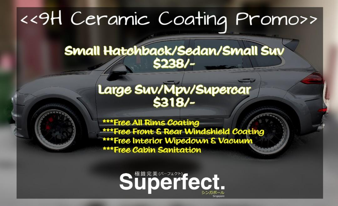 Ceramic Coating $238 Nett Only - 30 slots only