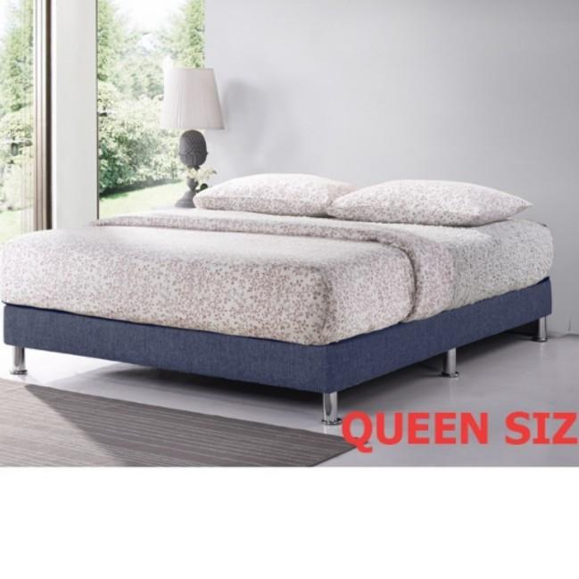 Fabric Divan Bed Base Frame Without, Queen Bed Frame Without Headboard