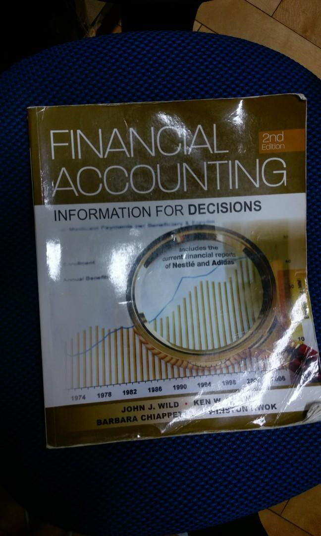 Financial accounting: lnformation for Decisions 2ND Edition