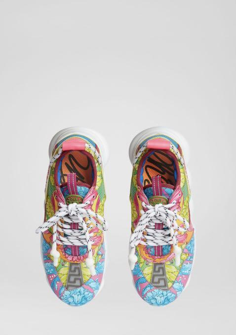 FLUO BAROCCO PRINT CHAIN REACTION TRAINERS