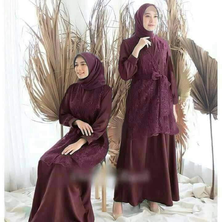 Gamis Tile Mutiara Cantik Murah Fesyen Wanita Muslim Fashion Lainnya Di Carousell
