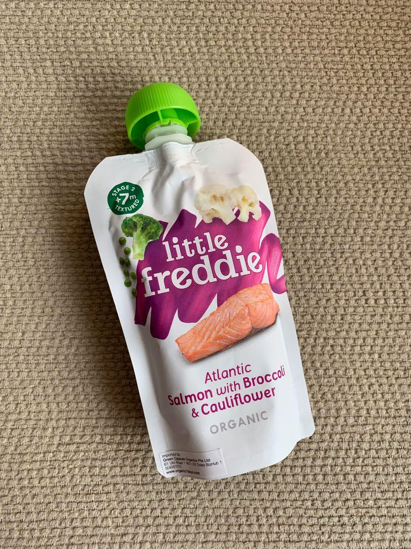 Gerber Organic Rice Cereal with FREE Little Freddie Organic Salmon Baby Food Pouch