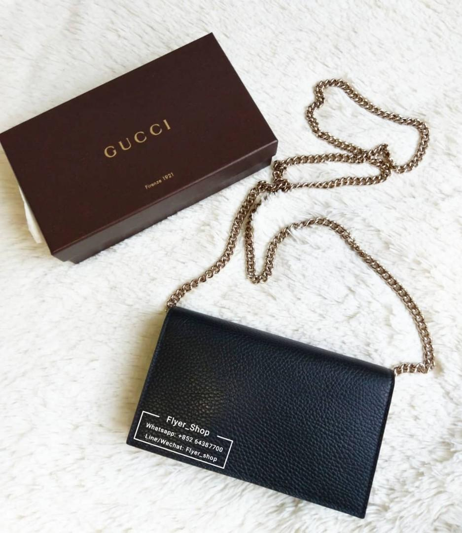 Gucci 黑色 Black WOC/Clutch wallet on chain