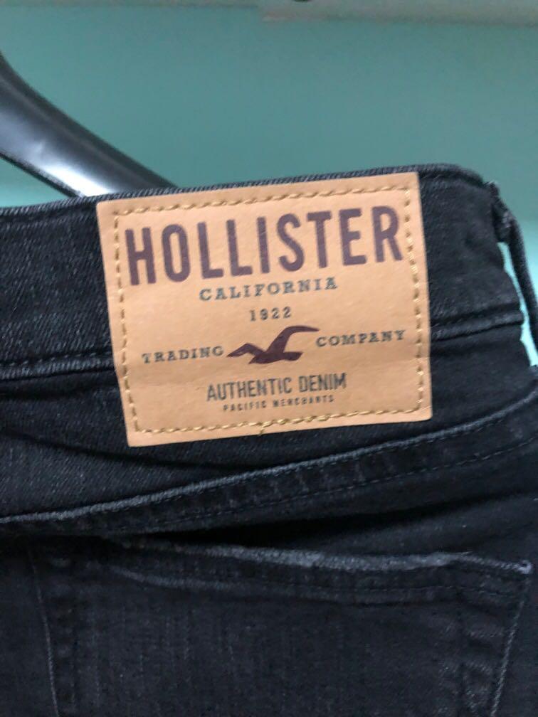 Hollister黑色牛仔褲