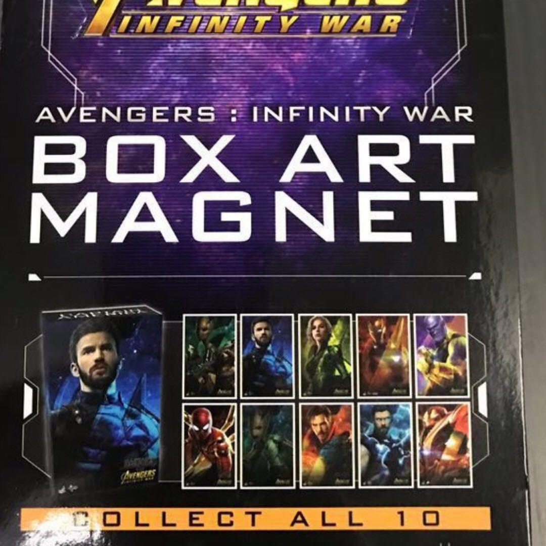 Hot toys Avengers 3 Infinity War Box Art Magnet 珍藏人偶迷你包裝磁石