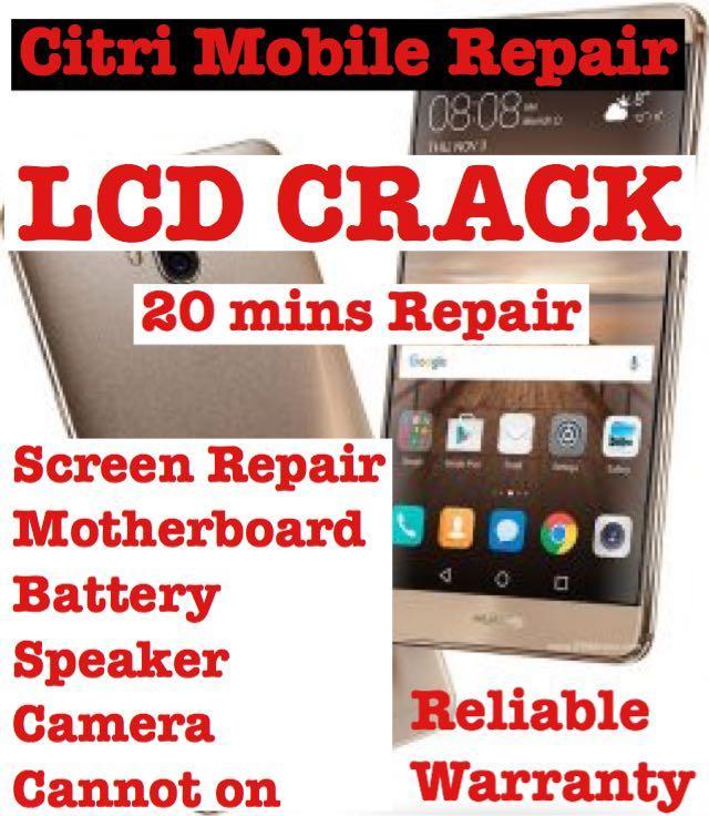 Huawei Crack Screen LCD Repair, Phone Mate 20 Pro Repair
