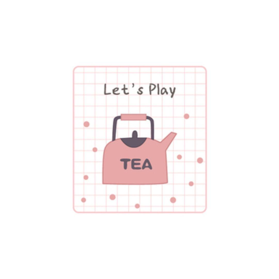 [Instock] Let's Play [Tea Pot] Embroidered Sticker & Iron-On Patch