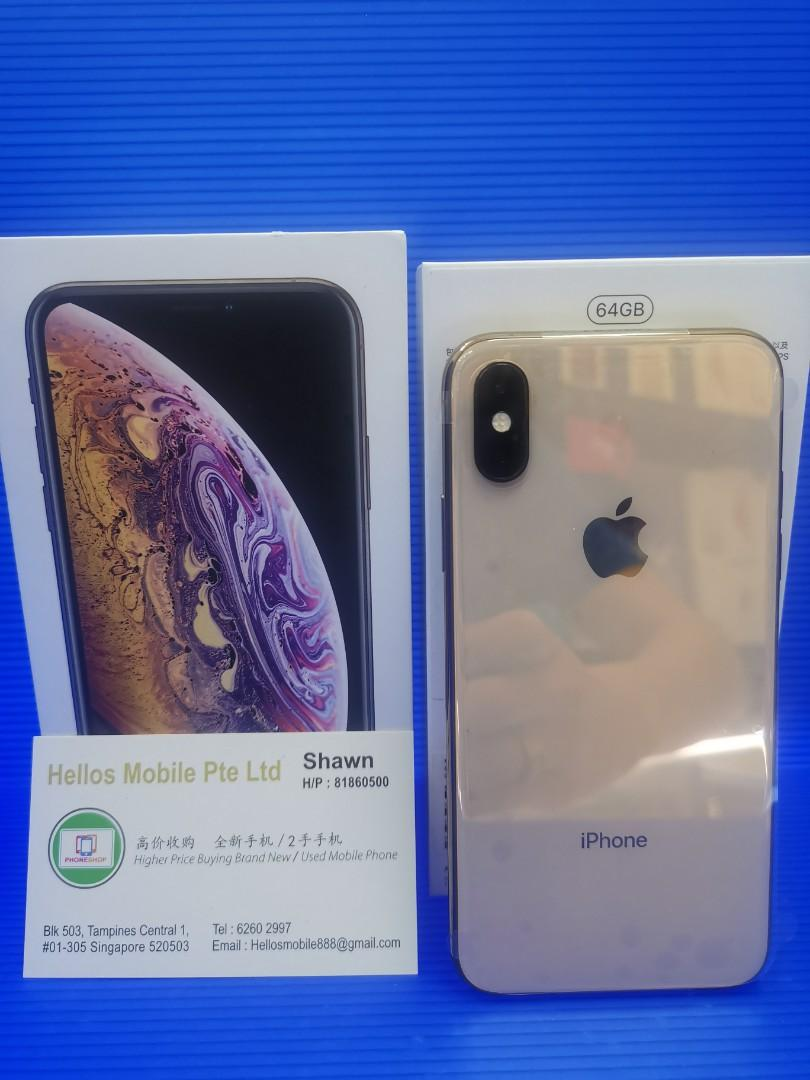 iPhone XS 64gb gold(used)