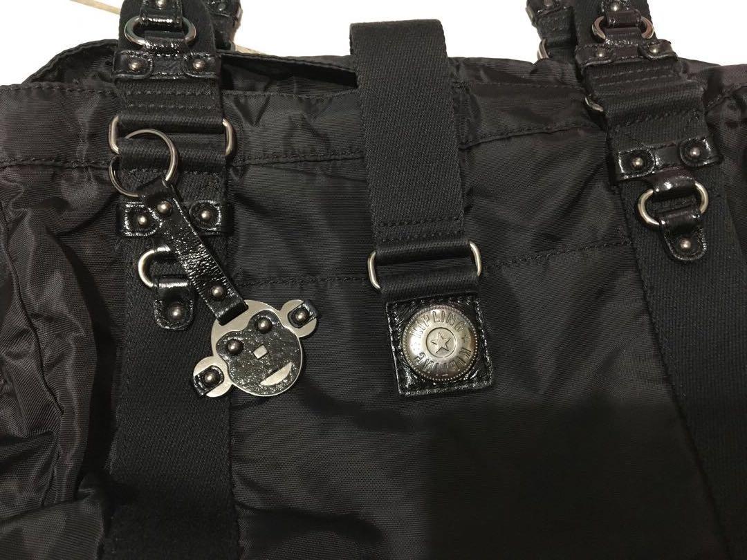 Kipling  猴子黑色休閒肩背包