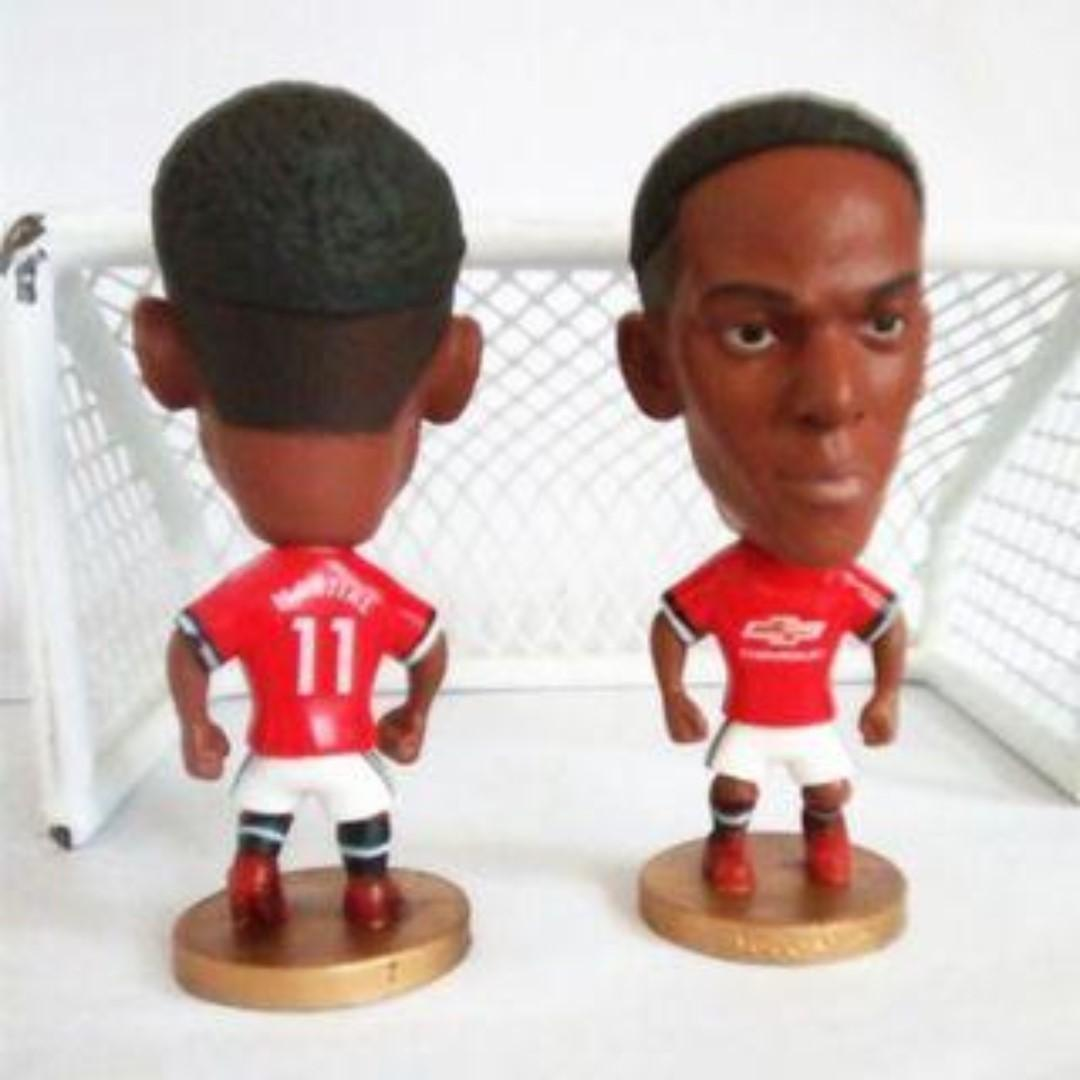 Manchester United Anthony Martial Football Figurine Toy Soccerwe Kodoto