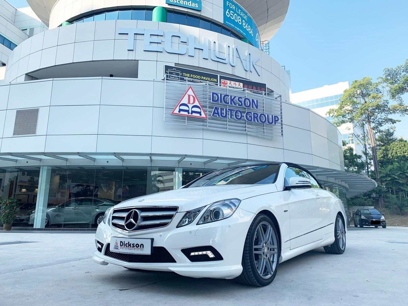 MERCEDES BENZ E 250CGI CONVERTIBLE (New 10 years COE)